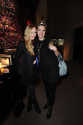 Left to right, LIZZY PATTINSON and VICTORIA AITKEN at a party to celebrate the publication of Nathalie von Bismarck's book 'Invisible' held at Asprey, 167 New Bond Street, London on 9th December 2010.