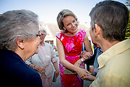 15-9-2016 Louvain-La-Neuve - Queen Mathilde visits Horizons Neuf. The organization is dedicated 50 years to the care of the mentally handicapped and is spread across several locations in Louvain-La-Neuve. The Queen is introduced to clients of the center.<br /> COPYRIGHT ROBIN UTRECHT<br /> 15-9-2016 Louvain-La-Neuve - Koningin Mathilde  bezoekt Horizons Neuf. De organisatie zet zich sinds 50 jaar in voor de zorg aan mentaal gehandicapten en is verspreid over verschillende locaties in Louvain-La-Neuve. De Koningin maakt kennis met cli&euml;nten van het centrum. <br /> COPYRIGHT ROBIN UTRECHT