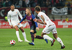 October 31, 2018 - Leon, Leon, Spain - Arthur of Barcelona in action during the King Spanish championship, , football match between Cultural Leonesa and Barcelona, October 31, in Reino de Leon Stadium in Leon, Spain. (Credit Image: © AFP7 via ZUMA Wire)