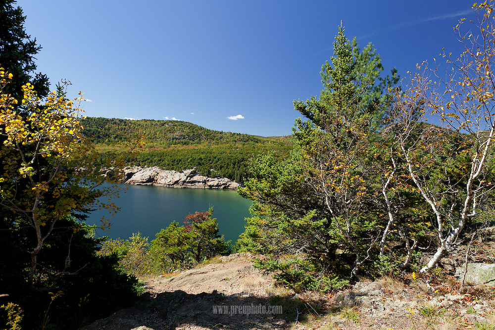 Acadia's Newport Cove as seen from the Great Head trail.