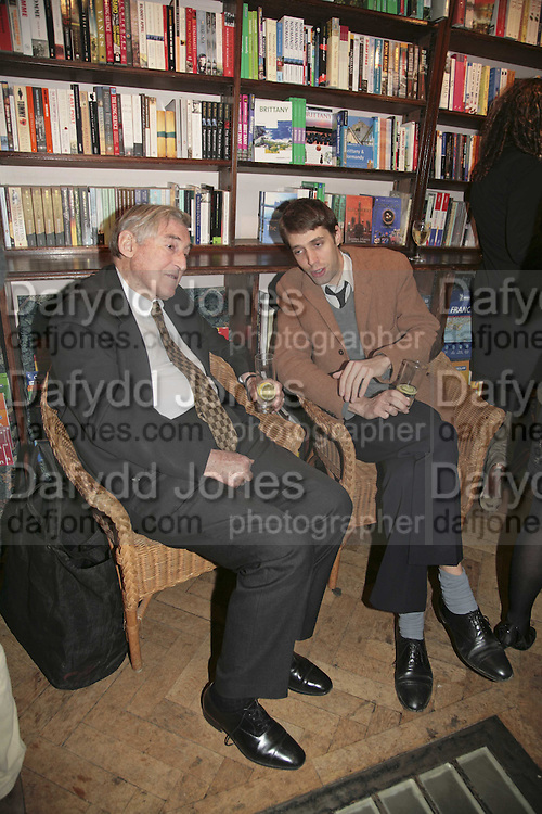 Mark Littman and the hon Tom Fisher, Book launch of Pretty Things by Liz Goldwyn at Daunt <br />Books, Marylebone High Street. London 30 November 2006.   ONE TIME USE ONLY - DO NOT ARCHIVE  &copy; Copyright Photograph by Dafydd Jones 248 CLAPHAM PARK RD. LONDON SW90PZ.  Tel 020 7733 0108 www.dafjones.com