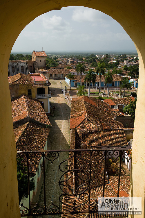 View from the bell tower of the San Francisco de Asis convent, Trinidad, Cuba on Thursday July 17, 2008.