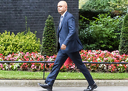 London, June 27th 2017. Communities and Local Government Secretary Sajid Javid attends the weekly UK cabinet meeting at 10 Downing Street in London.