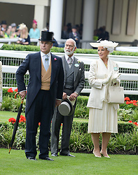Left to right, HRH The DUKE OF YORK, PRINCE MICHAEL OF KENT and PRINCESS MICHAEL OF KENT at Day 1 of the 2013 Royal Ascot Racing Festival at Ascot Racecourse, Ascot, Berkshire on 18th June 2013.