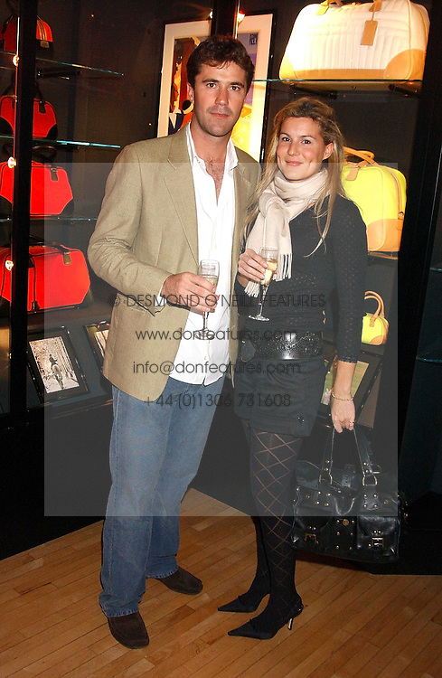 ED MILBANK and ALEX GORE BROWNE at a party tp celebrate the opening on Sac Freres at 7 Grafton Street, London W1 on 27th October 2005.<br />