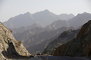 The cliffs of the Hajar Mountains.