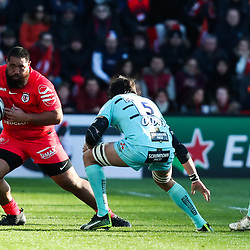 Charlie FAUMUINA of Toulouse during the European Rugby Champions Cup, Pool 5 match between Toulouse and Gloucester on January 19, 2020 in Toulouse, France. (Photo by Manuel Blondeau/Icon Sport) - Stade Ernest-Wallon - Toulouse (France)