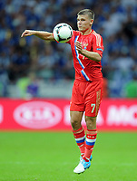 Fotball<br /> EM 2012<br /> 16.06.2012<br /> Hellas v Russland<br /> Foto: Witters/Digitalsport<br /> NORWAY ONLY<br /> <br /> Igor Denisov (Igor Denissow, Russland)<br /> Fussball EURO 2012, Vorrunde, Gruppe A, Griechenland - Russland 1:0