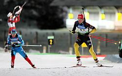 04.01.2012, DKB-Ski-ARENA, Oberhof, GER, E.ON IBU Weltcup Biathlon 2012, Staffel Frauen, im Bild Sabrina Buchholz (re./GER) kommt vom Schiessstand .// during relay Ladies of E.ON IBU World Cup Biathlon, Thüringen, Germany on 2012/01/04. EXPA Pictures © 2012, PhotoCredit: EXPA/ nph/ Hessland..***** ATTENTION - OUT OF GER, CRO *****