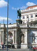 Equestrian statue of Franz Joseph I, in front of Albertina Museum, Vienna, Austria