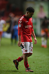 Charlton Athletic's Jay Dasilva reacts at full time