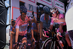Anna van der Breggen gets her countdown on Stage 5 of the Giro Rosa - a 12.7 km individual time trial, starting and finishing in Sant'Elpido A Mare on July 4, 2017, in Fermo, Italy. (Photo by Sean Robinson/Velofocus.com)