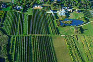 Aerial,  Farm field, Water Mill, NY