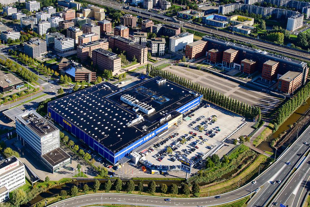 Nederland, Noord-Holland, Amsterdam, 27-09-2015; Amsterdam Zuidoost, Bullewijk. Woonwarenhuis IKEA.<br /> Southeast Amsterdam, Ikea housing department store. <br /> luchtfoto (toeslag op standard tarieven);<br /> aerial photo (additional fee required);<br /> copyright foto/photo Siebe Swart