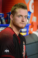 PHOENIX, AZ - SEPTEMBER 17:  Shelby Miller #26 of the Arizona Diamondbacks looks on from the dugout during the game against the Los Angeles Dodgers at Chase Field on September 17, 2016 in Phoenix, Arizona.  (Photo by Jennifer Stewart/Getty Images)