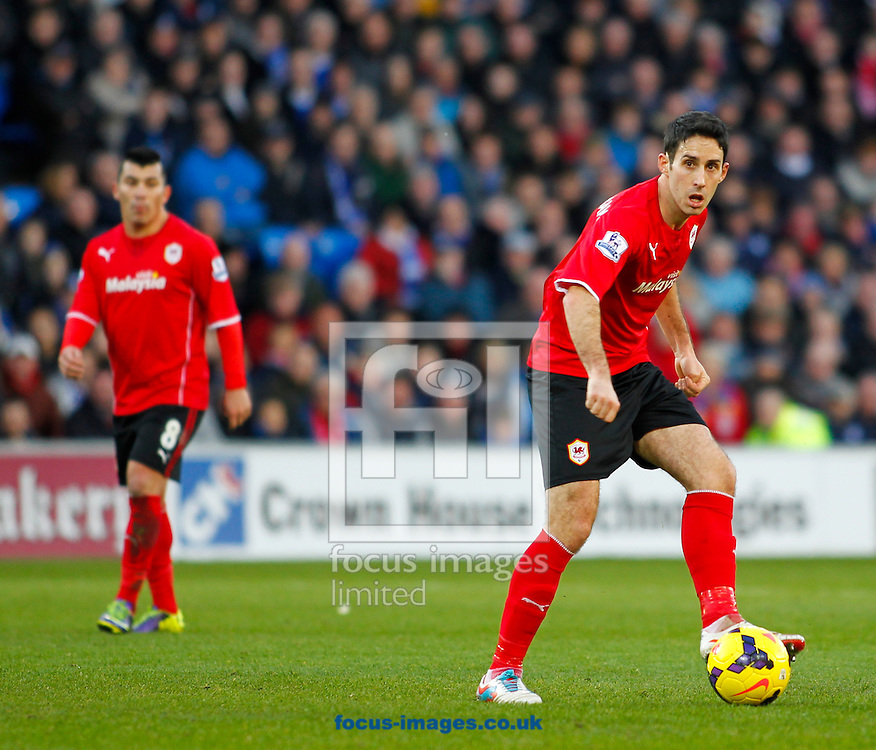 Picture by Mike  Griffiths/Focus Images Ltd +44 7766 223933<br /> 11/01/2014<br /> Peter Whittingham of Cardiff City against West Ham United during the Barclays Premier League match at the Cardiff City Stadium, Cardiff.