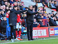 Football - 2018 / 2019 Sky Bet EFL Championship - Charlton Athletic vs. Luton Town<br /> <br /> Charlton Athletic manager Lee Bowyer shouts instructions to his team from the technical area, at The Valley.<br /> <br /> COLORSPORT/ASHLEY WESTERN