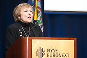 Phyllis Frankfort, President & CEO of w!se at 100 Best W!se High Schools Teaching Personal Finance 2014 were honored in a ceremony held at the NYSE/Euronext.
