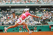 Roland Garros. Paris, France. June 5th 2007..1/4 Finals..Justine HENIN against Serena WILLIAMS.