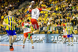 Lasse Svan #11 of SG Flensburg Handewitt during handball match between RK Celje Pivovarna Lasko (SLO) and SG Flensburg Handewitt (GER) in 12th Round of EHF Men's Champions League 2015/16, on February 20, 2016 in Arena Zlatorog, Celje, Slovenia. Photo by Urban Urbanc / Sportida