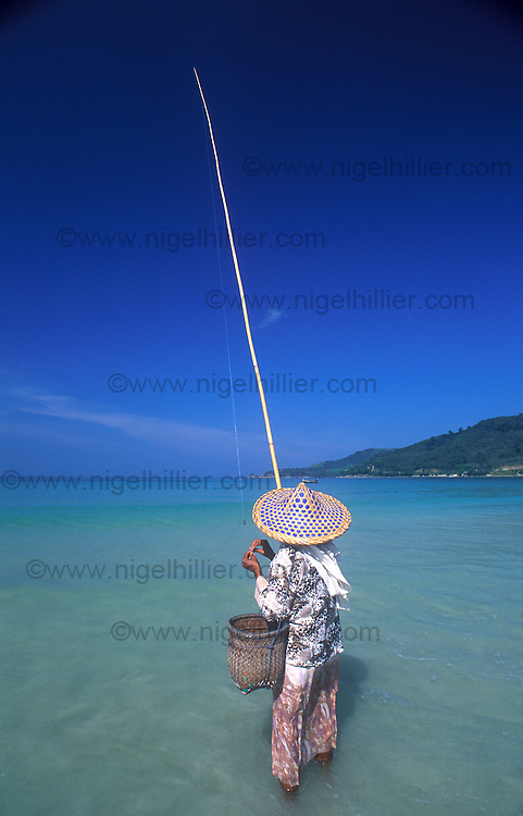 local woman fishing