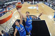 DESCRIZIONE : Rimini Trofeo Tassoni Italia Polonia Italy Poland<br /> GIOCATORE : Andrea Bargnani Stefano Macinelli<br /> CATEGORIA : rimbalzo special<br /> SQUADRA : Nazionale Italia Uomini <br /> EVENTO : Trofeo Tassoni<br /> GARA : Italia Polonia<br /> DATA : 13/08/2011<br /> SPORT : Pallacanestro<br /> AUTORE : Agenzia Ciamillo-Castoria/C.De Massis<br /> Galleria : Fip Nazionali 2011 <br /> Fotonotizia : Rimini Trofeo Tassoni Italia Polonia Italy Poland<br /> Predefinita :