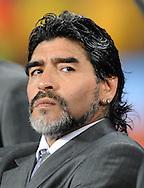FUDBAL, JOHANEZBURG, 20. Jun. 2010. - Maradona. Utakmica osmine finala Svetskog prvenstva u fudbali izmedju Argentine i Meksika. Foto: Nenad Negovanovic