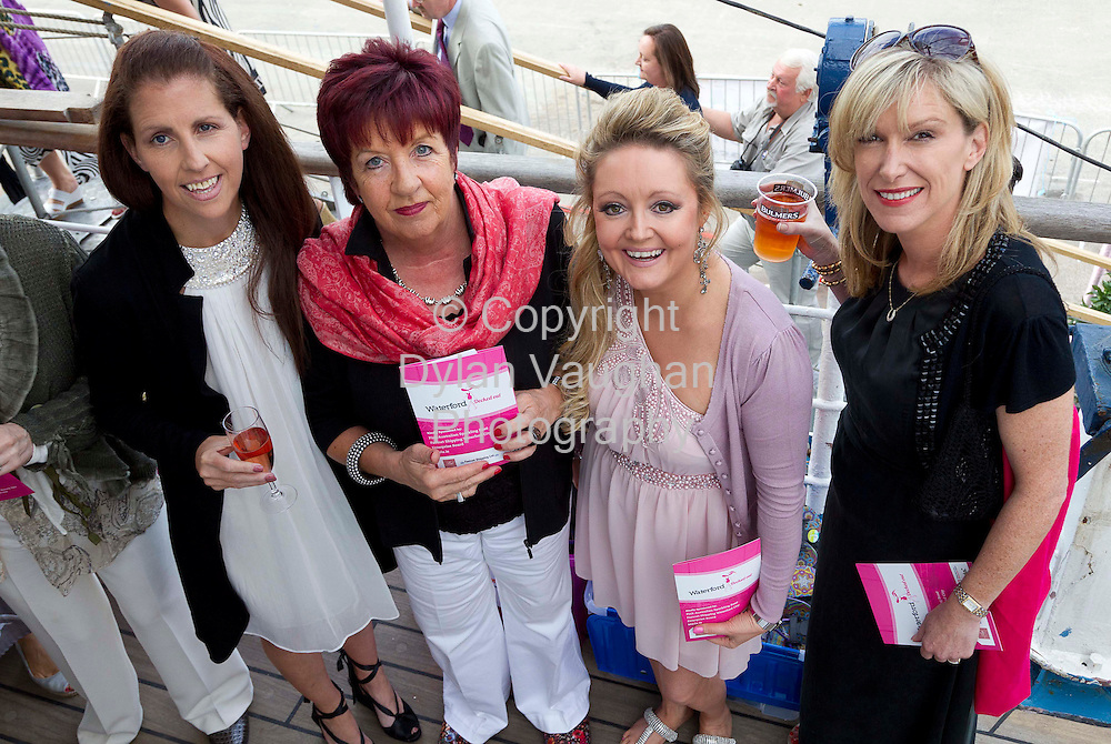 1/7/2011.no charge for repro.Rachel O'Regan, Carol Kinsella, Rose Jones and Ruth Phelan of Sabella Bridal pictured at the Fashion Show on board the Mir Tall Ship.Picture Dylan Vaughan