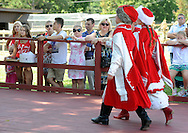 PSHRINE07P<br /> Spectators watch the Maki dance troop perform a Polish dance during the 50th annual Polish American family festival and country fair at the National Shrine of Our Lady of Czestochowa Sunday September 6, 2015 in Doylestown, Pennsylvania.  (William Thomas Cain/For The Inquirer)