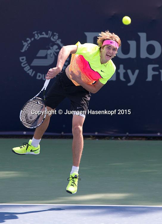 Alexander Zverev (GER)<br /> <br /> Tennis - Dubai Duty Free Tennis Championships - ATP -   - Dubai -  - United Arab Emirates  - 24 February 2015. <br /> &copy; Juergen Hasenkopf
