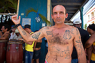 Man with tattoos in Niquero, Granma, Cuba.