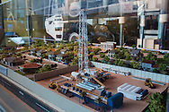 Model of a Chesapeake drill rig in the Fort Worth Museum of Science and History in Texas.