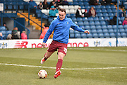 Bradford City Defender, Anthony McMahon warms up during the Sky Bet League 1 match between Bury and Bradford City at the JD Stadium, Bury, England on 5 March 2016. Photo by Mark Pollitt.
