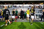 STOCKHOLM, 2016-08-04<br /> KVAL TILL EUROPA LEAGUE MELLAN AIK OCH PANATHINAIKOS<br /> AIK l&auml;mnar Tele 2 arena efter  matchen mellan AIK och Panathinaikos p&aring; Tele 2 arena, torsdag den 4 augusti 2016.<br /> Foto: Carl-Cedric Persson/Ombrello <br /> ***BETALBILD***
