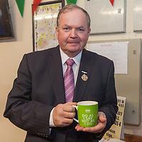 An tUachtaran Cumann Luthchleas Gael, Mr. Liam O'Neill, enjoying a cup of tea during his visit to the Kilmurry Ibrickane GAA Club Centenary Closing Ceremony