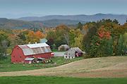 Rural scene with red barn, Peacham, Vermont