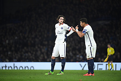 09.03.2016, Stamford Bridge, London, ENG, UEFA CL, FC Chelsea vs Paris Saint Germain, Achtelfinale, Rueckspiel, im Bild rabiot adrien, thiago silva // during the UEFA Champions League Round of 16, 2nd Leg match between FC Chelsea vs Paris Saint Germain at the Stamford Bridge in London, Great Britain on 2016/03/09. EXPA Pictures © 2016, PhotoCredit: EXPA/ Pressesports/ LAHALLE PIERRE<br /> <br /> *****ATTENTION - for AUT, SLO, CRO, SRB, BIH, MAZ, POL only*****