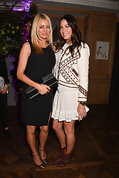 Tess Daly and Lisa Snowdon at the 2017 Fortnum & Mason Food & Drink Awards held at Fortnum & Mason, Piccadilly London England. 11 May 2017.<br /> Photo by Dominic O'Neill/SilverHub 0203 174 1069 sales@silverhubmedia.com