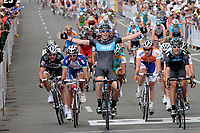 Adelaide - Australie - wielrennen - cycling - radsport - cyclisme -  UCI ProTour - Santos Tour Down Under - 1e etappe - Christopher Sutton juicht als Gregory Henderson (Team Sky) rechts wint  <br /> PHOTO : PHOTO NEWS / DPPI