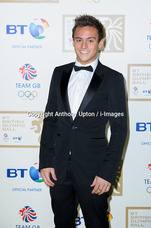 File Photo - Olympic diver Tom Daley has revealed he is in a relationship with a man.<br /> <br /> Tom Daley during the BT Olympic Ball, held at the Grosvenor Hotel, London, UK, November 30, 2012. Photo By Anthony Upton / i-Images.<br /> <br /> Olympic diver Tom Daley has revealed he is in a relationship with a man.<br /> <br /> In a YouTube broadcast, the 19-year-old London 2012 bronze medallist said: &quot;In spring this year my life changed massively when I met someone, and they make me feel so happy, so safe and everything just feels great.<br /> <br /> &quot;That someone is a guy.&quot;<br /> Photo By Anthony Upton / i-Images.