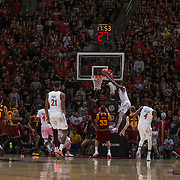 10 December 2016: The San Diego State Aztecs men's basketball team host's Saturday afternoon at Viejas Arena. San Diego State forward Zylan Cheatham (14) dunks the ball in the first half. The Aztecs lead the Sun Devils 32-25 at half time. www.sdsuaztecphotos.com