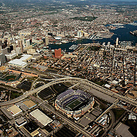 Aerial view of Baltimore Inner Harbor, Maryland