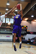 November 28, 2011; Moraga, CA, USA; San Francisco State Gators guard Andre Jones (40) shoots the ball during the first half of the Shamrock Office Solutions Classic consolation game against the Jacksonville State Gamecocks at McKeon Pavilion.