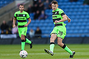 Forest Green Rovers Paul Digby(20) passes the ball forward during the The FA Cup 1st round match between Oxford United and Forest Green Rovers at the Kassam Stadium, Oxford, England on 10 November 2018.