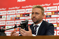WARSAW, July 24, 2018  Newly appointed head coach of the Polish national football team Jerzy Brzeczek attends a press conference in Warsaw, Poland, July 23, 2018. (Credit Image: © Maciej Gillert/Xinhua via ZUMA Wire)