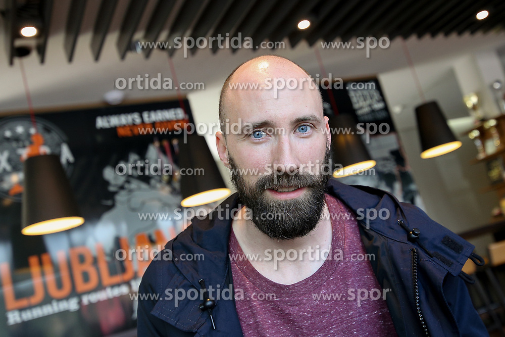Portrait of Vid Kavticnik, Slovenian handball player currently playing for Montpellier Handball, on May 4, 2017 in Hotel Mons, Ljubljana, Slovenia. Photo by Matic Klansek Velej / Sportida