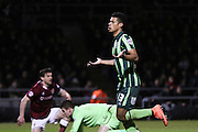 Lyle Taylor of AFC Wimbledon equalise during the Sky Bet League 2 match between Northampton Town and AFC Wimbledon at Sixfields Stadium, Northampton, England on 1 March 2016. Photo by Stuart Butcher.
