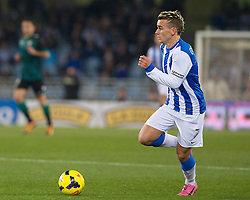 15.12.2013, Anoeta Stadium, San Sebastian, ESP, Primera Division, Real Sociedad vs Real Betis, 16. Runde, im Bild Real Sociedad's Antoine Griezman // Real Sociedad's Antoine Griezman during the Spanish Primera Division 16th round match between Real Sociedad and Real Betis at the Anoeta Stadium in San Sebastian, Spain on 2013/12/15. EXPA Pictures © 2013, PhotoCredit: EXPA/ Alterphotos/ Mikel<br /> <br /> *****ATTENTION - OUT of ESP, SUI*****