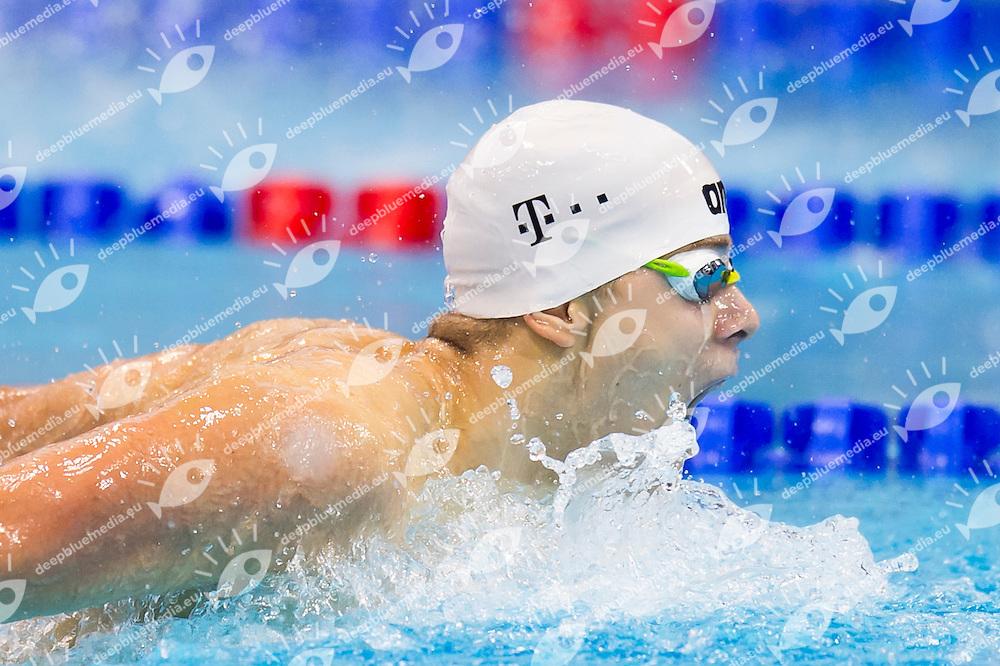 KENDERESI Tamas HUN bronze medal<br /> London, Queen Elizabeth II Olympic Park Pool <br /> LEN 2016 European Aquatics Elite Championships <br /> Swimming<br /> Men's 200m butterfly final  <br /> Day 11 19-05-2016<br /> Photo Giorgio Perottino/Deepbluemedia/Insidefoto