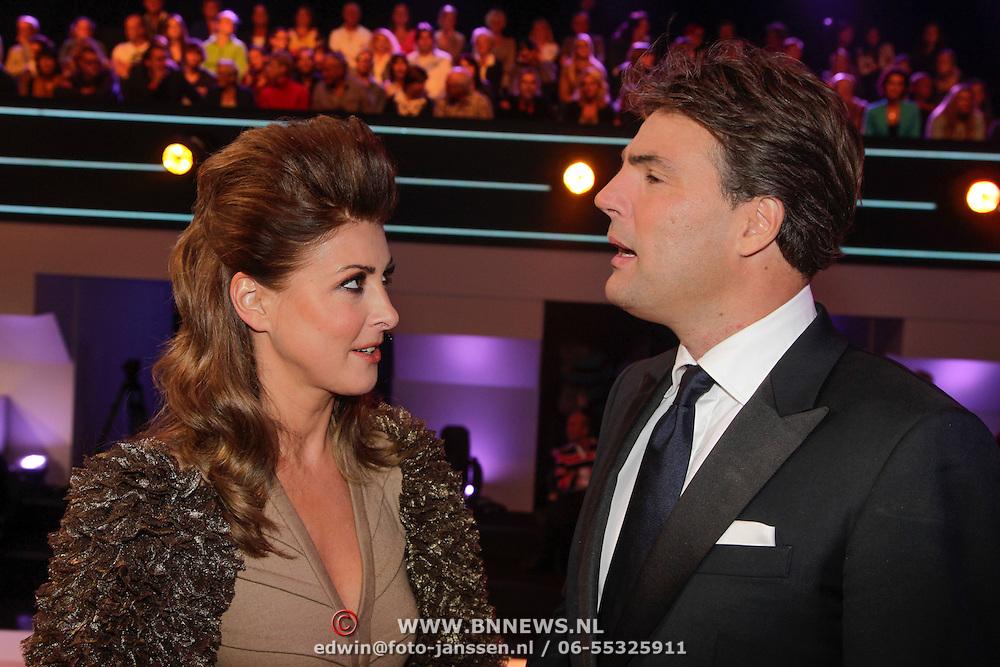 NLD/Hilversum/20120922- 5de Live uitzending AVRO Strictly Come Dancing 2012, Euvgenia Parakhina en Reinout Oerlemans